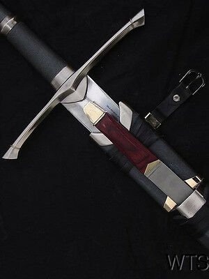 "Analytical 50.4"" Lord Of The Rings Strider Ranger Sword And Scabbard Sharp Collectibles"