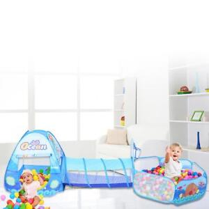 new styles 26614 cf403 Details about Portable 3 in 1 Foldable Kid Crawl Tunnel Play Tent Baby  Ocean Ball Pool Toy Kit