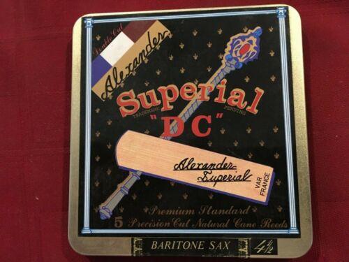 "5 ALEXANDER SUPERIAL /""DC/"" BARITONE SAXOPHONE REEDS SIZE #4 1//2   BARI SAX 4.5"
