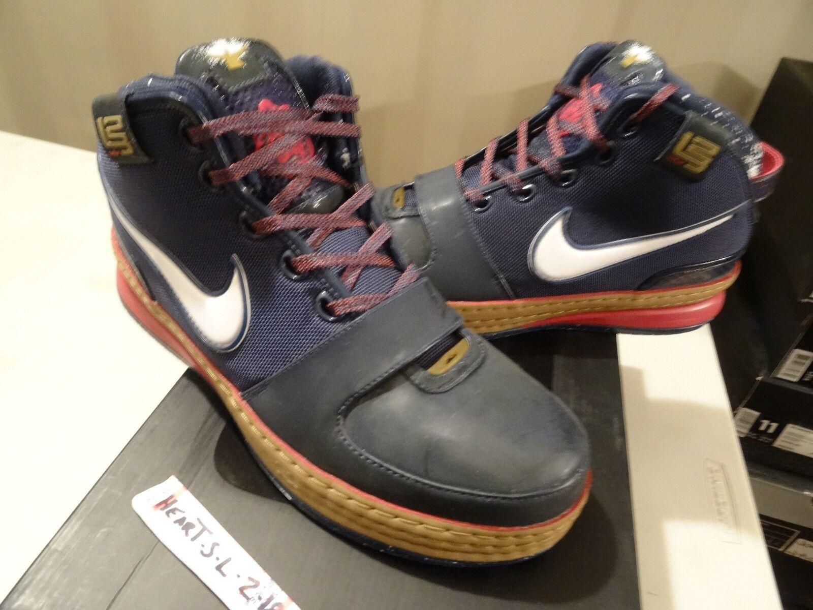 RARE Nike Zoom Lebron 6 VI Chalk 3M Woodgrain Midnight Navy 346526 441 Size 11
