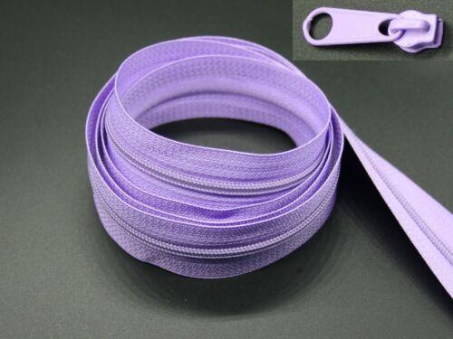 endlos 5m Reißverschluss 5 Schieber, Spirale 3mm 0,38€//m
