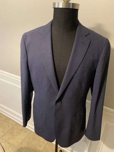 Suit Supply Havana Mid Blue Traveller  Notch Lapel
