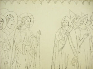 Jesus-and-the-Pharisees-Italy-Xive-Lagrillere-Litho-Xixth-1858-Hangard