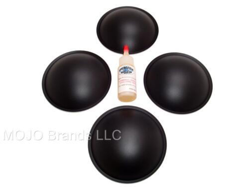 """4DCPL45G 4 Piece 4.5/"""" Poly Dome Speaker Subwoofer Dust Cap Kit"""