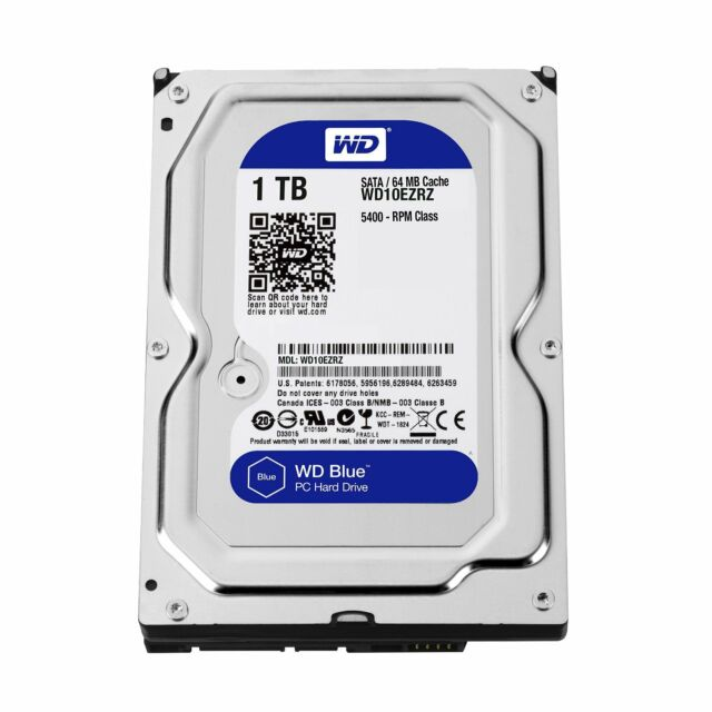 """WD 1TB BLUE DESKTOP HDD 3.5"""" 7200 RPM Internal SATA HDD WD10EZEX"""
