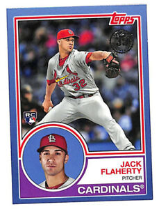 2018 Topps Jack Flaherty 1983 35th Anniversary BLUE rookie card Cardinals