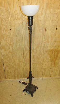 Vintage Art Deco Floor Lamp With Sculpture Base Torchere Ebay