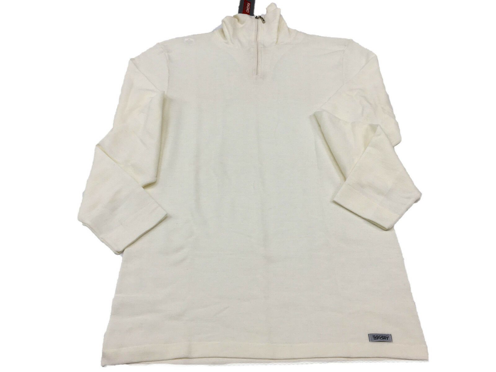 be5c297dc8980 RAGNO SPORT men s sweater with zip art.06259K wool 15% silk cream 85 ...