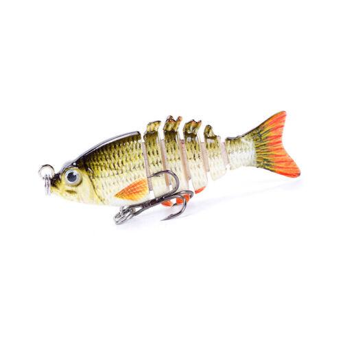 Mini Fishing Glide Swimming 5cm 2.5g Hard Lure 6 Segment Fishing Lures Bait HZ