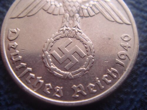 Rare WWII Antique Germany 1937-1940 3rd Reich SS Nazi Eagle 1 pfenning Coin