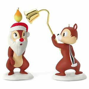 A-Merry-Pair-2016-Hallmark-Disney-Ornament-Chip-and-Dale-Pluto-039-s-Christmas-Tree