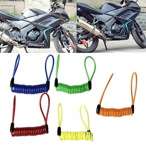 Anti Thief Motorbike Motorcycle Scooter Wheel Disc Brake Alarm Lock Spring Cable