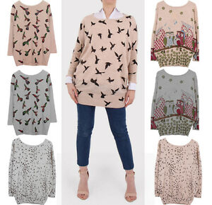 2019-Winter-Autumn-Loose-Knitted-Long-Sleeve-Floral-Print-Stretchy-Women-Sweater