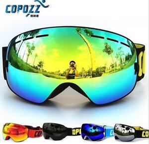 Skibrille-doppel-UV400-Snowboardbrille-Goggle-verspiegelt-Antifog-Rahmenlos