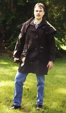 Driza-Bone Oilskin Oilcloth Short Duster Riding Coat, Black, Med