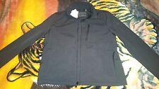 Calvin Klein~Sport Jacket Neoprene Style Bomber Coat~Size XL~Black/Black