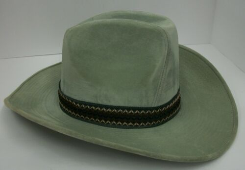 Vintage GA Brand Western Cowboy Hat Sage Green Med