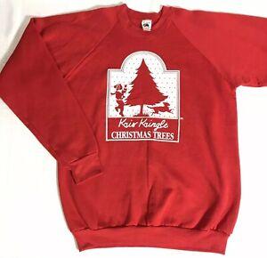 Vintage-Christmas-Ugly-Sweater-Sweatshirt-FOTL-Kris-Kringle-Size-XL-Made-in-USA