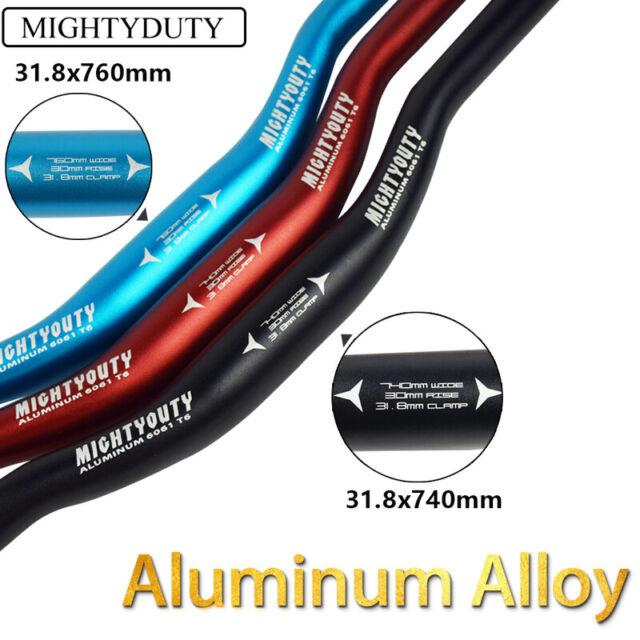 MIGHTYDUTY Bike Handlebar Aluminum Alloy MTB Road Durable Riser Bar 31.8mm