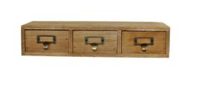 Solid-Wood-3-Drawer-Single-Level-Storage-Unit-Trinket-Desk-Tidy-Cabinet
