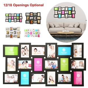 12/18 Multi Photos Picture Frame Collage Memories Wall Mount Hanging Home Decor