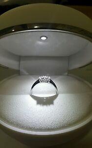 Anillo-De-Oro-Blanco-18-ct-Trilogy-Diamantes-0-39-Quilates-f-color-vs1-Mujer