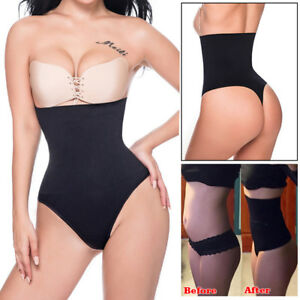 bb1d254229b3e Image is loading High-Waist-Trainer-Tummy-Control-Body-Shaper-Thong-
