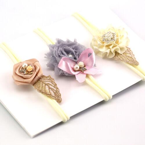 3 Stk Neugeboren Stirnband Baby Mädchen Haarschmuck Schleife Haarband Kopfband