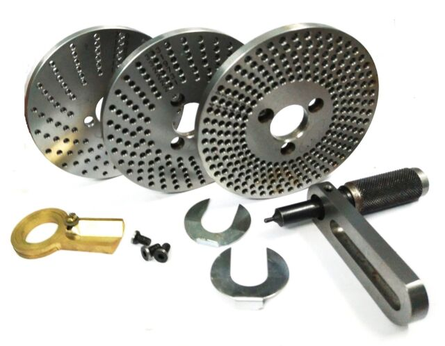 Steel dividing plates set for hv4//hv6 rotary table with working manual-milling