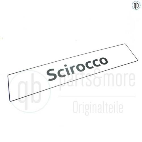 Original VW Kennzeichenschild Einleger Deko Schriftzug Scirocco 518x110 mm