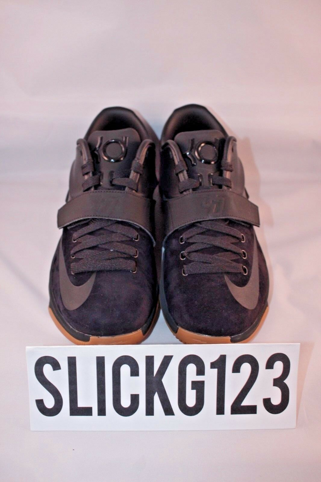 Nike KD 7 VII EXT Suede QS Black Suede EXT Gum Size 9 DS Brand New with Receipt 51ced6