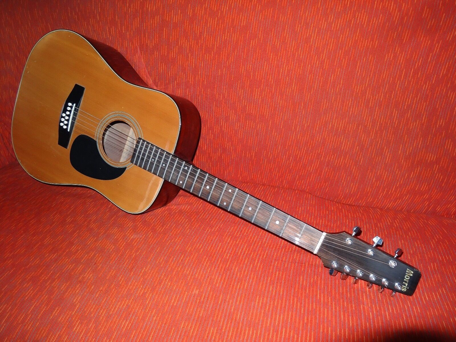 Morris acoustic guitar BW618, nine string,extremely rare, vintage