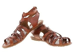 Womens Buckle Huaraches Rust Brown T Strap Style Boho Sandals Open Toe