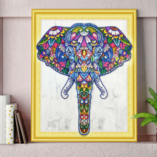 "/""NEW/"" OLLIE THE ELEPHANT 5D DIY DIAMOND PAINTING BY NUMBER KIT 40x50cm Huge!"