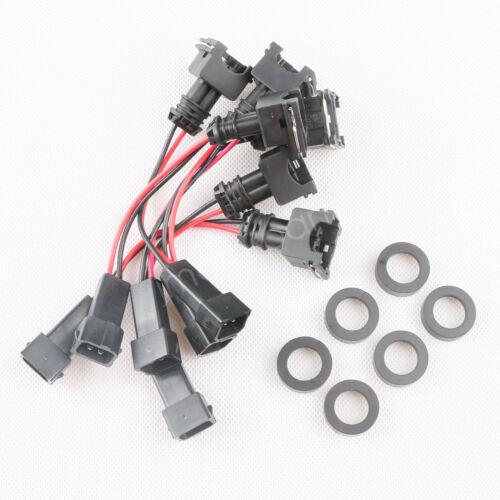 6 42lb 440cc Fuel Injectors For Nissan Skyline Toyota RB25DET RB26DETM Set