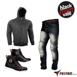 Casual-Clothing-Motorcycle-Leather-Sneakers-Fleece-Hoodie-amp-Denim-Jeans-Armoured