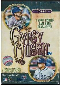 2017-Topps-Gypsy-Queen-Blaster-Box-Factory-Sealed-8-Packs-Judge-Bregman-RC