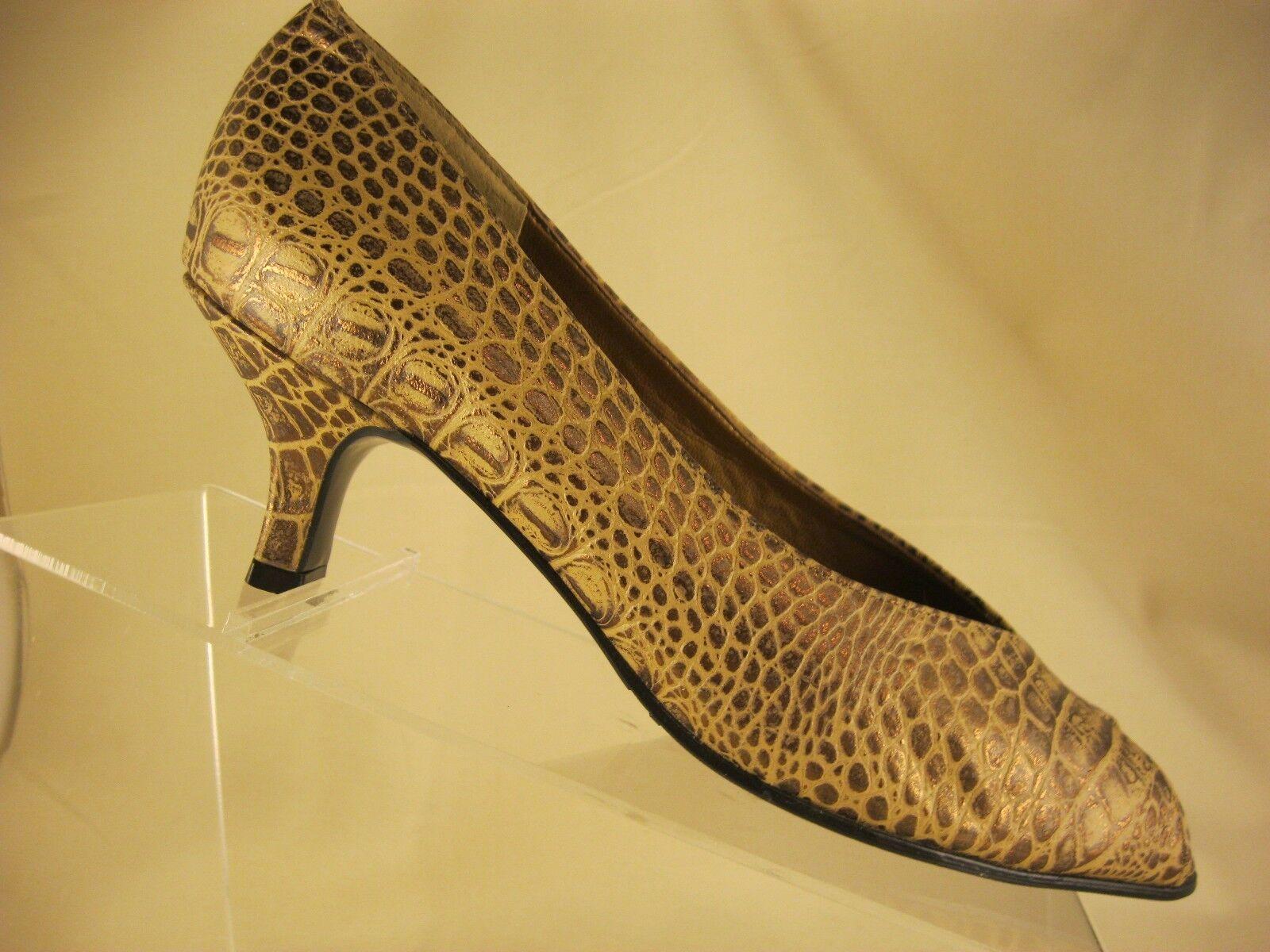 California Magdesians Leather Embossed Reptile 9N Print Peep-Toe Heel Women's 9N Reptile 0b661d