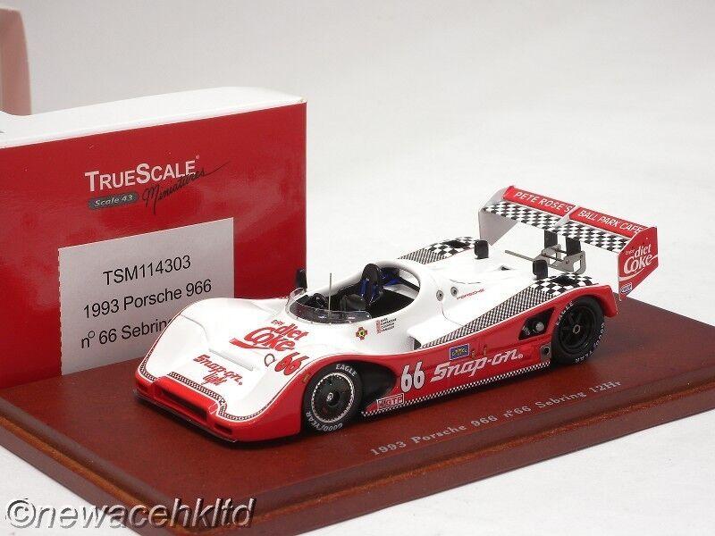 1993 Porsche 966 Sebring 12HR TrueScale Modelo 1 43  TSM114303