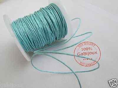 filo corda cotone cerato lucido un bobina da 50 mt 1,5mm per collana bigiotteria