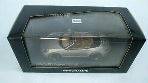 Minichamps-1-43-2012-PORSCHE-911-Carrera-Cabriolet-991-SILVER-Diecast-Auto-Giocattolo