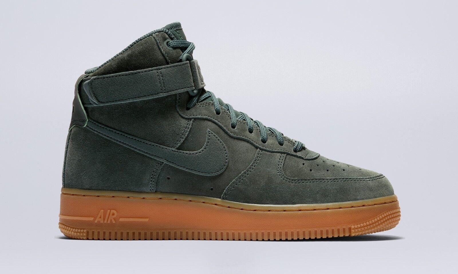 Nike Air Force 1 HI SE   860544 301 Green Suede Gum Women SZ 11.5 = Men SZ 10