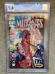 New Mutants #98 CGC 9.6 1st appearance of deadpool