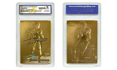 TOM BRADY 2000 Fleer Ultra 23K GOLD ROOKIE Card Refractor Signature Series Graded Gem-Mint 10