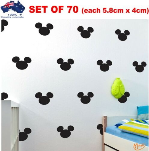 70 x Mickey Mouse Wall Stickers  wide  Removable Nursery Kids Home Best Gifts