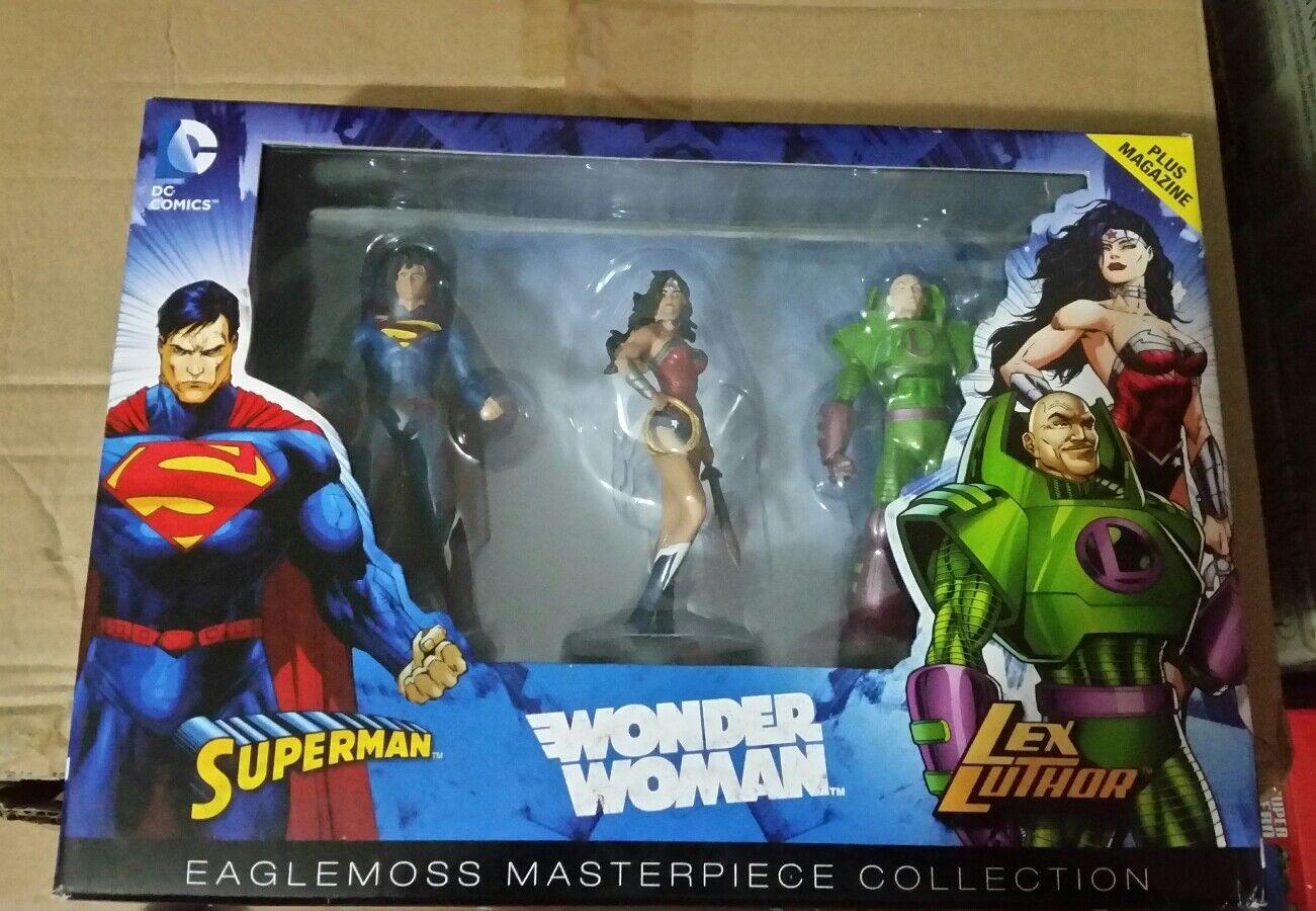 Superman, Wonder Woman e Lex Luthor Eaglemoss MASTERPIECE Collection