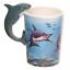 thumbnail 21 - Animal Shaped Handle Ceramic Mug Tea Coffee Cup Novelty Gift Jungle Tropical
