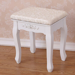 Image Is Loading Vintage Stool Dressing Table Piano Chair White Decor