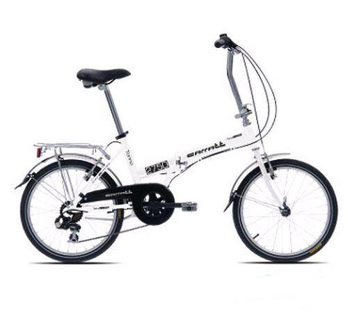 Folding Bike Caratt C170 White Compact Folding Aluminum New 6 Vit 20   Alu