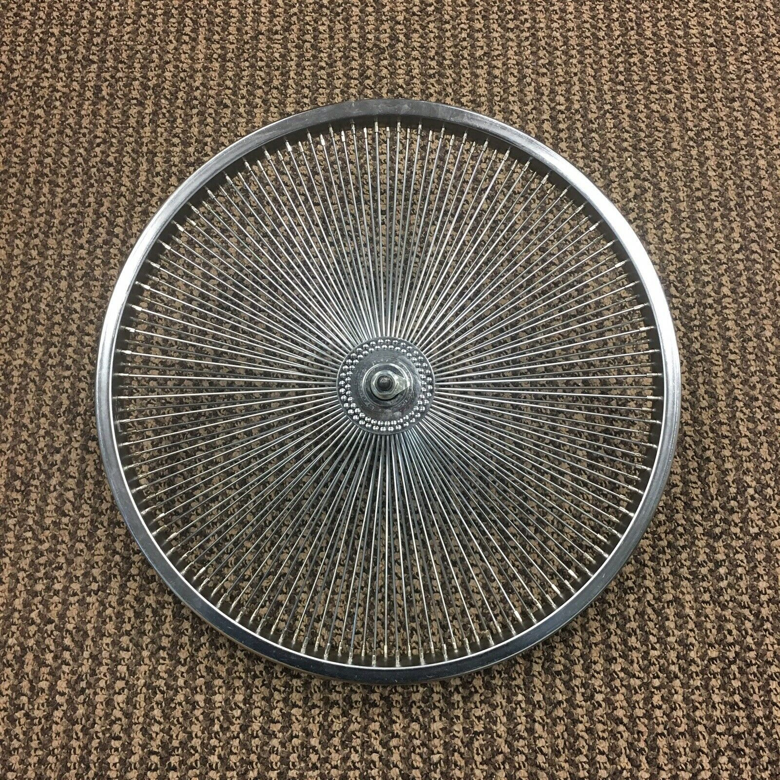 "LOW RIDER LOWRIDER BIKE BICYCLE 20/"" Fan 144 Spoke FRONT WHEEL 14G CHROME 288707"